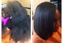 Hair by Kim / Healthy natural and relaxed hair styles