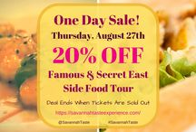 Flash Sale! / Follow along for pop-up deals and discounts on all of our Savannah Taste Food Tours! #SavannahTaste