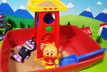 アンパンマンおもちゃアニメ❤砂遊び!クルクル回って楽しいな! Anpanman toys