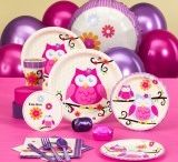 Owl Blossom Party / For a pretty birthday party, come visit the pink an purple forest!