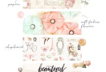 "Love Story Collection / Like a love story that never ends, the gorgeous ""Love Story"" Collection by Frank Garcia embraces the beauty of friendship, bravery, and eternal love. Featuring soft blush and pastel colors, pink foil, and modern lettering, this collection will truly make you fall in love over and over again."