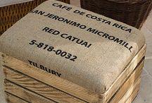 Footstool crate / Cushioed