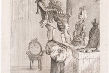 XVIII caricatures