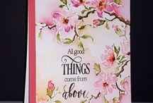 kaartjes met bloemen