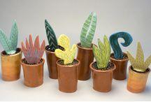 растения букеты  керамика