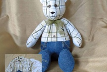 Fancy, George & Papa (Memory) Bears