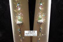 Orecchini Niagara / Orecchini realizzati con cristalli #swarovski ; disegno, progetto e realizzazione di Laura Solerte - copyright 2014