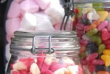 Retro Sweets Tables / Fun ideas for using sweets on your buffet table. Retro sweet tables are all the rage at the moment - perfect for your wedding, party, picnic, event or gathering.