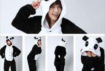 pijamas panda
