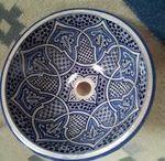 Marokkaanse waskomen / koper wasbak met koper waterkraan  marokkaanse waskomen