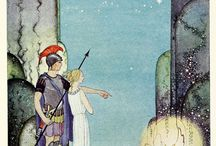 Book Illustrations of Faery tales, mythology and others.
