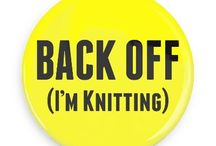 Knitting Buttons / Funny Buttons - Custom Buttons - Promotional Badges - Knitting Pins - Wacky Buttons