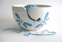 Strikkebolle keramikk