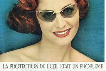 1950's Vintage Eyewear Ads / Vintage Eyewear Ads and Ads with eyeglasses and sunglasses