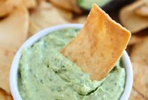 Healthy snacks, dips and apps