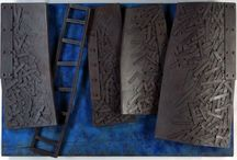 Fine Art Leather Sculpture / This sculpture is made out of carved and constructed leather.