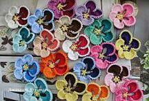 Вязание: Цветы декоративные