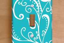 Light Switch Art Covers / Vinyl Light Switch and Outlet Covers. Add a hint of sophistication to any room with these beautifully sleek hand-wrapped covers featuring unique designs by artist Janet Antepara. VIEW ALL HERE: http://goo.gl/qvyYhv