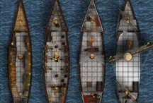 Cartes JDR : navires