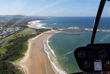 Scenic Flights / Helicopter scenic flights over the Coffs Coast, NSW Australia. Two helicopters to choose from, fantastic aerial views along the coast or fly towards the lush hinterland.  
