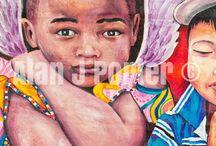 Big Painting / The Oil paintings from the English artist Alan John Porter. #alanjporterart #kompas #art #children #painting #oil #beauty #kids #love