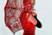 paraplu gehaakt