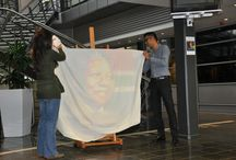 """Pieces of Love: a portrait of Nelson Mandela / Last week saw the handing over of an inspirational, artistic and unique portrayal, """"Pieces of Love: a portrait of Nelson Mandela"""", to the Mercedes-Benz Group of Companies by the Ekukhanyeni Relief Project. As part of a fundraising initiative, all sponsors of Ekukhanyeni were given the opportunity at an auction to bid on the portrait and MBSA was the highest bidder."""