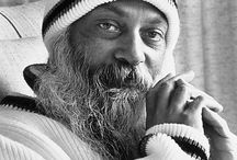 "Osho / ""What is actually meant by enlightenment? A relaxed, restful approach to life, a deep synchronicity with existence, an egoless communion with the whole."" - Osho"
