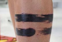 Bolt lines tattoo