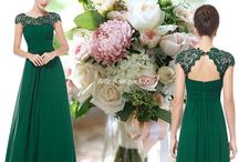 Green Bridesmaid Dresses / Green - a timeless classic. From palest Mint right through to the sophistication of Dark Bottle Green.  View more at www.belleboutiqueuk.co.uk   .