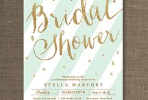 Mel's bridal shower / Mint/Gold scheme / by Ariel Mackley
