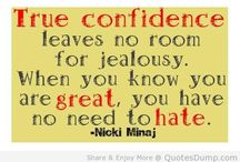The Love Quotes Jealousy Quotes : true confidence leaves no room for jealousy confidence quote ……