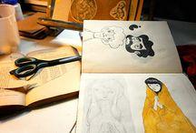sketches, rabiscos & afins / caderninhos, folhas soltas sketchbooks, sketches, rabiscos & afins