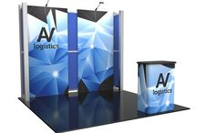 Hybrid Pro Modular Displays / The sophisticated, striking appearance of Hybrid ProTM Modular exhibits takes exhibiting to a new level. The Hybrid Pro Modular series is a collection of modular and reconfigurable exhibit backwalls and counters that feature heavy-duty aluminum frames, push-fit fabric graphics and high-end features such as tables, monitor mounts, interior LED lighting and more. The intricacy of the details makes these exhibits impossible not to notice.