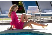 """#SS15CAMPAIGN / The Juicy Couture Spring 2015 campaign, """"Couture Oasis,"""" depicts the ultimate selfie, following the Juicy girl as she escapes LA for relaxation and rejuvenation. Juicy Couture partnered with two of the fashion industry's legendary icons – stylist Carlyne Cerf de Dudzeele and photographer Hans Feurer.  The campaign features model Edita Vilkeviciute as the free-spirited Juicy girl who continues her journey west for Spring 2015."""