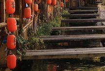 stream and bridges
