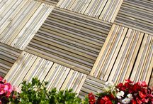 Gripsure Decking Tiles / Decking tiles are quick to fit and great for creating a decked area without having to install decking boards. Here are a few ideas and examples of how decking tiles can be used. With the benefit of the non slip inserts these tiles help you to enjoy your garden all year round.