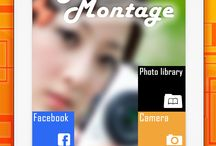 """PHOTO MONTAGE APP IPAD / Awesome features:    ⁃ Import photos from your photo library, Facebook ,web   ⁃ Simple touch gestures to rotate, resize, flick to delete   ⁃ Long press on photo to edit photo, clip photo, adjust borders, copy/paste and """"flip"""" images   ⁃ Just tap on the lower-left Frame icon, and swipe to select a frame to make an instant collage!  ⁃ Clip photos by outlining the area you want with your finger"""