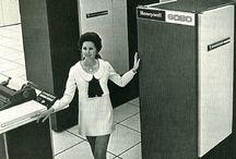 Mainframe Computer & old PCs