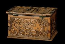 Medieval caskets, coffers, boxes