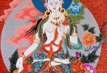 Tara / Buddhist goddess of mercy. Like Kwan Yin's Tibetan sister.