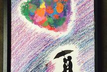 Home-oil pastel art