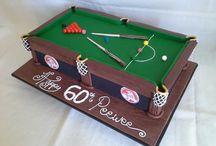 Snooker themed cake
