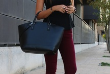 бордовые штаны