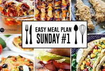 Weekly Family Meal Plan / Great ideas and family meal plans shared by others. A great way to get your weekly meal plan organized! / by ABC Creative Learning