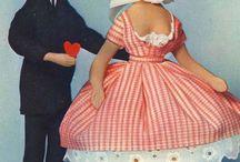 Les poupées Peynet / Grand-mère de la poupée Barbie ?