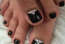 Unhas dos pés decorado
