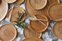 Bamboo Homewares / Dandi's range of sustainable bamboo entertaining platters, plates, and kitchen utensils.