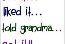 Sayings - Grandparents and Grandchildren / Wonderful words about grandparents and grandchildren.