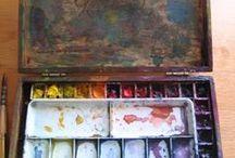 Watercolor pallets